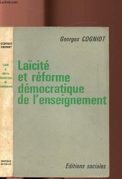 LAICITE ET REFORME DEMOCRATIQUE DE L'ENSEIGNEMENT