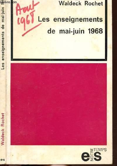 LES ENSEIGNEMENTS DE MAI-JUIN 1968