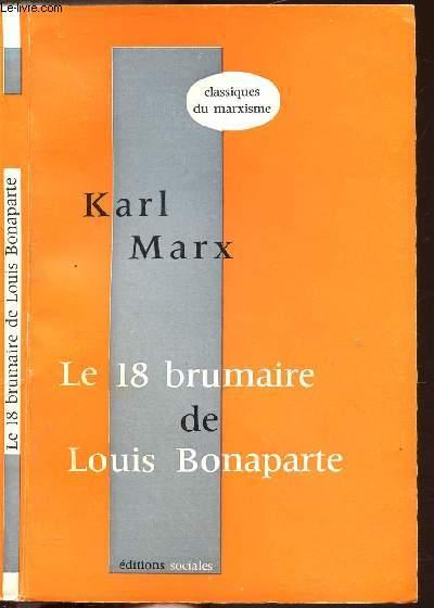 LE 18 BRUMAIRE DE LOUIS BONAPARTE - COLLECTION DU MARXISME