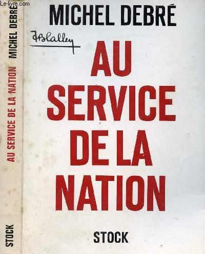 AU SERVICE DE LA NATION