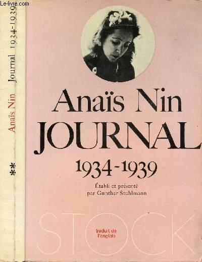 JOURNAL 1934 - 1939