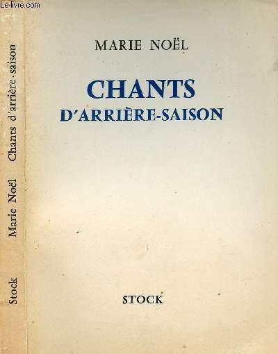 CHANTS D'ARRIERE-SAISON