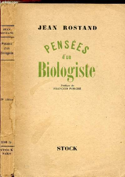 PENSEES D'UN BIOLOGISTE