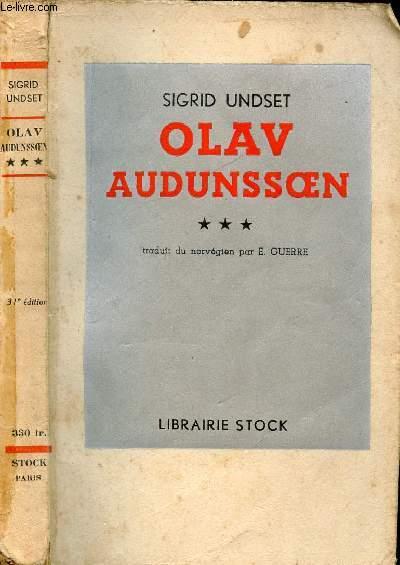OLAV AUDUNSOEN TOME III