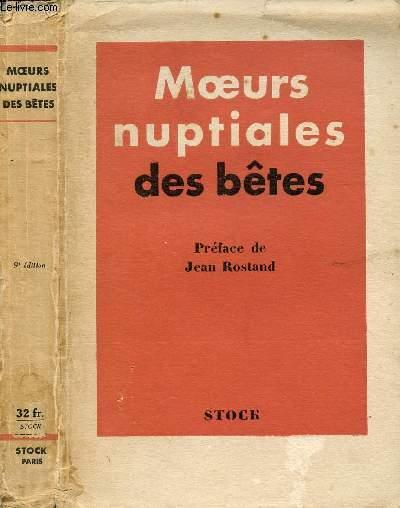 MOEURS NUPTIALES DES BETES
