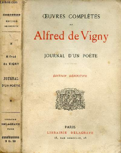 OEUVRES COMPLETES D'ALFRED DE VIGNY