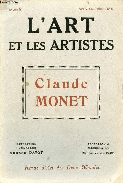 L'ART ET LES ARTISTES - CLAUDE MONET - N°11 - 15e ANNEE