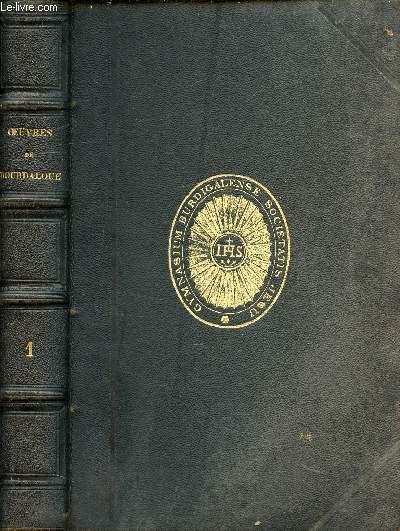 OEUVRES DE BOURDALOUE TROIS TOMES EN TROIS VOLUMES - TI : AVENT, CAREME, DOMINICALES ; T2: SUITES DES DOMINICALES, MYSTERES, PANEGYRIQUES ; T3: SERMOS POUR LES VETURES, ORAISONS FUNEBRES, EXHORTATIONS, PENSEES, ESSAI D'AVENT.