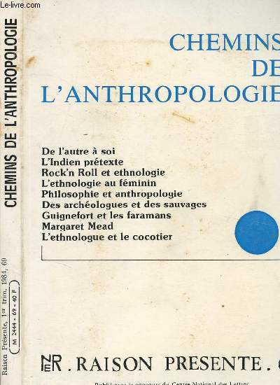CHEMINS DE L ANTHROPOLOGIE