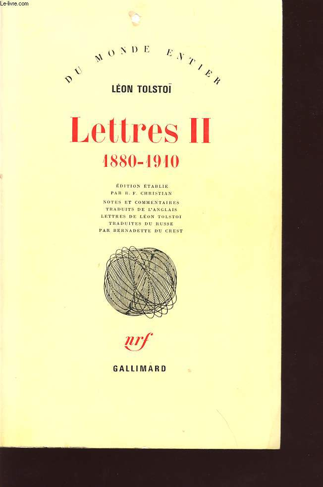 LETTRES II 1880-1910
