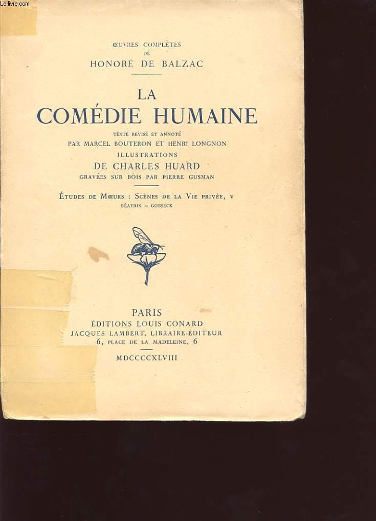 LA COMEDIE HUMAINE TOME V