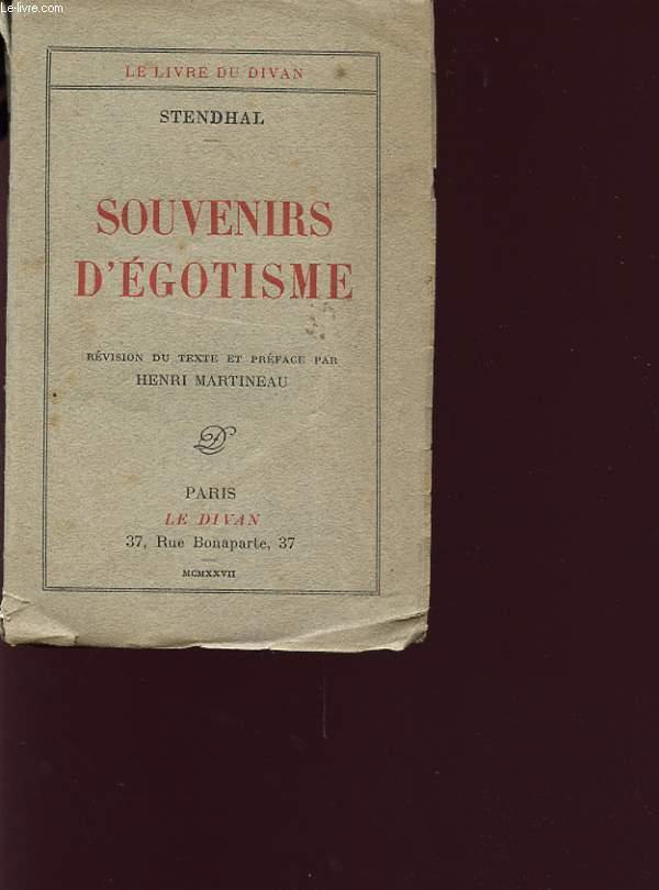SOUVENIRS D EGOTISME