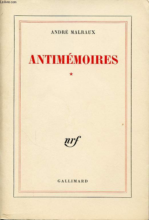 ANTIMEMOIRES TOME 1