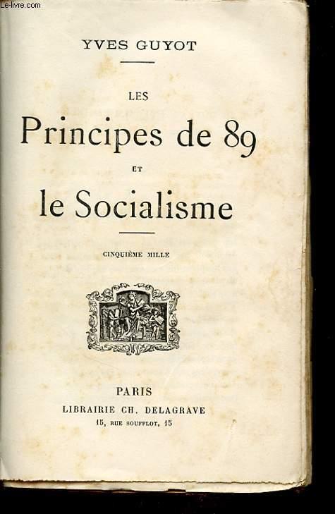 LES PRINCIPES DE 89 ET LE SOCIALISME