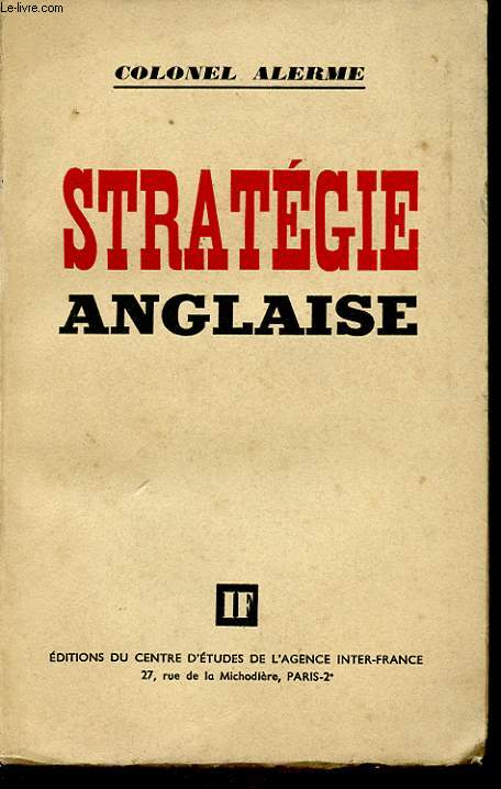 STRATEGIE ANGLAISE