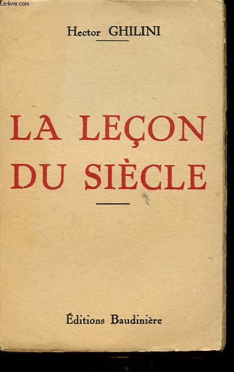 LA LECON DU SIECLE
