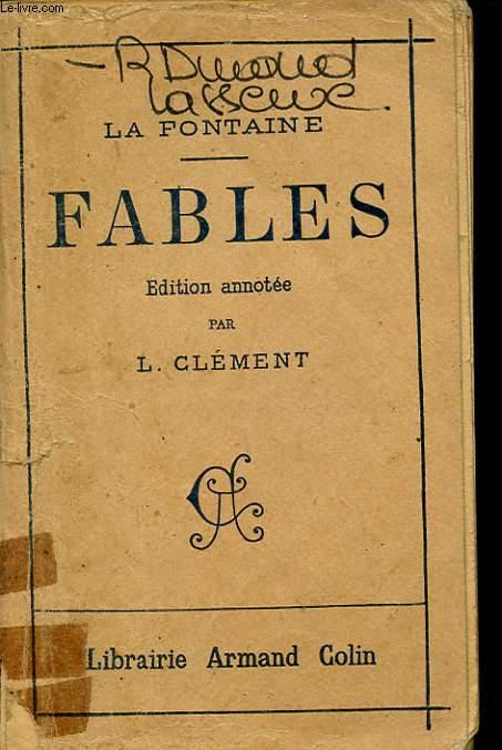 FABLES EDITION ANNOTEE PAR L. CLEMENT