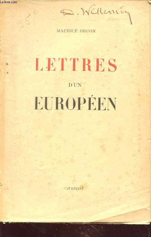 LETTRES D UN EUROPEEN