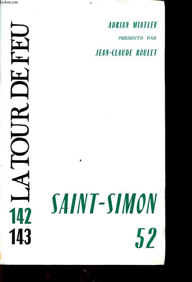 SAINT SIMON 52