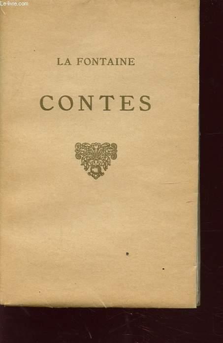 CONTES DE LA FONTAINE LIVRES I ET II