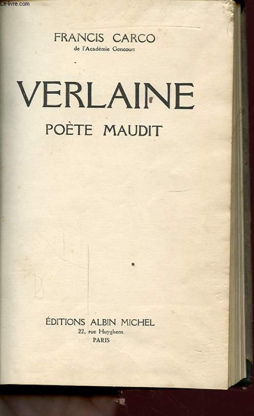 VERLAINE POETE MAUDIT
