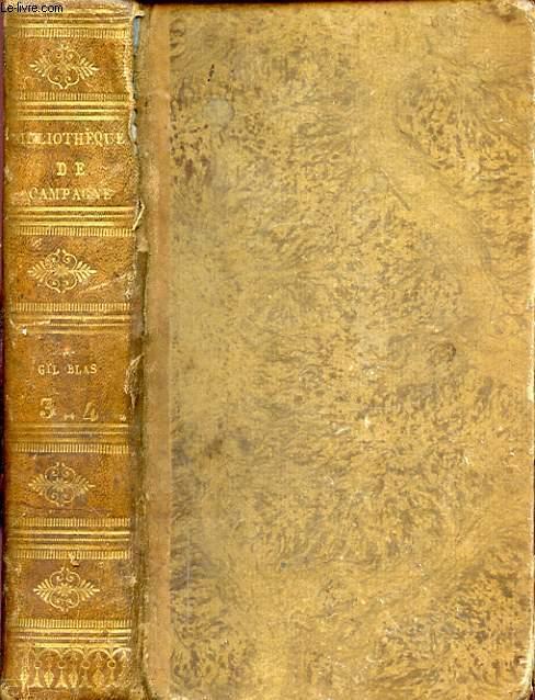 HISTOIRE DE GIL BLAS DE SANTILLANE TOME TROISIEME ET QUATRIEME EN 1 VOLUME