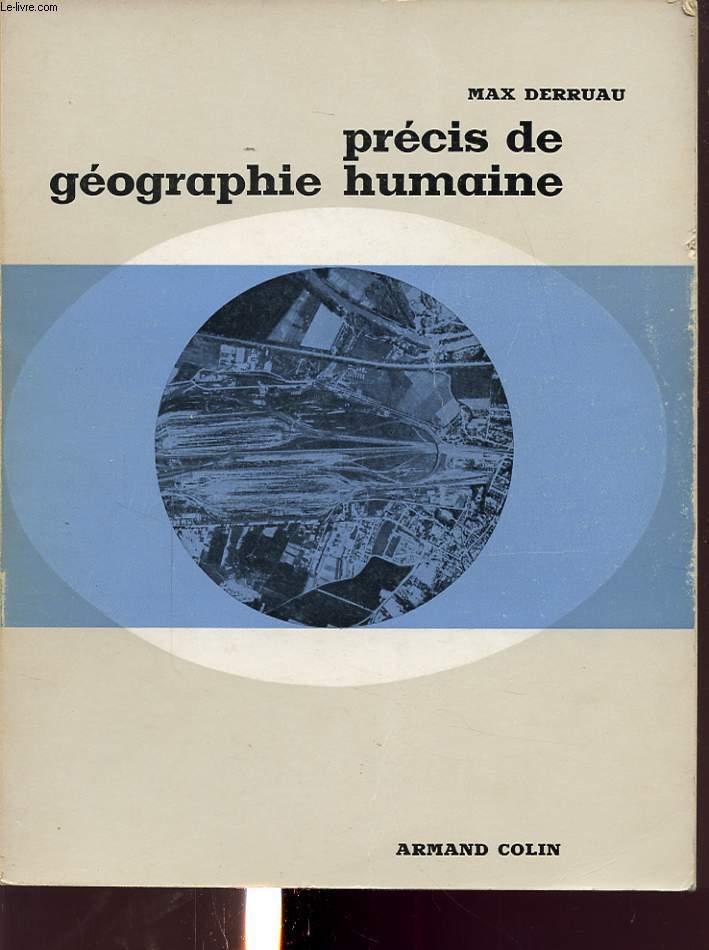 PRECIS DE GEOGRAPHIE HUMAINE
