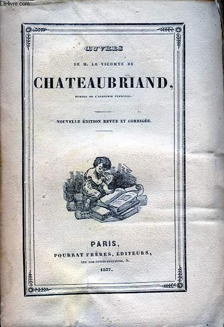 OEUVRES DE M. LE VICOMTE DE CHATEAUBRIAND TOME XIX MELANGES POLITIQUE I