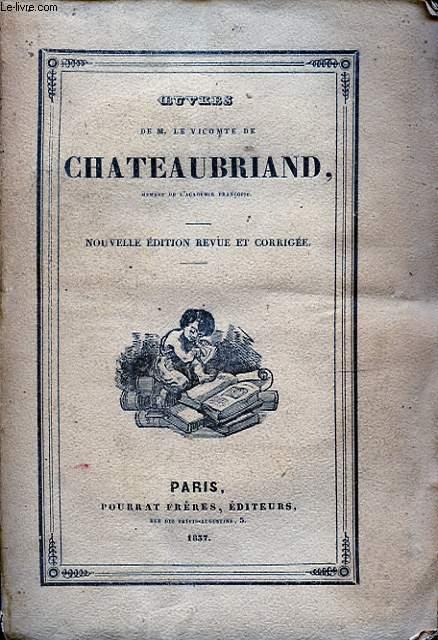 OEUVRES DE M. LE VICOMTE DE CHATEAUBRIAND TOME XX MELANGES POLITIQUES II