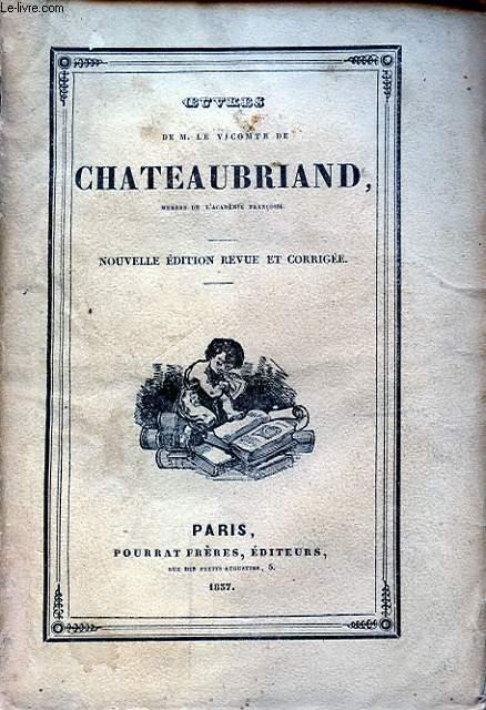 OEUVRES DE M. LE VICOMTE DE CHATEAUBRIAND TOME VII LES MARTYRS II