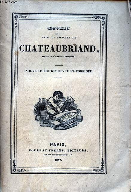 OEUVRES DE M. LE VICOMTE DE CHATEAUBRIAND TOME II GENIE DU CHRISTIANISME II