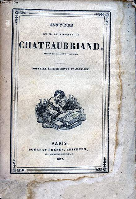 OEUVRES DE M. LE VICOMTE DE CHATEAUBRIAND TOME XVI ETUDES HISTORIQUES III