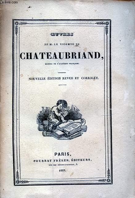 OEUVRES DE M. LE VICOMTE DE CHATEAUBRIAND TOME XVII ETUDES HISTORIQUES IV