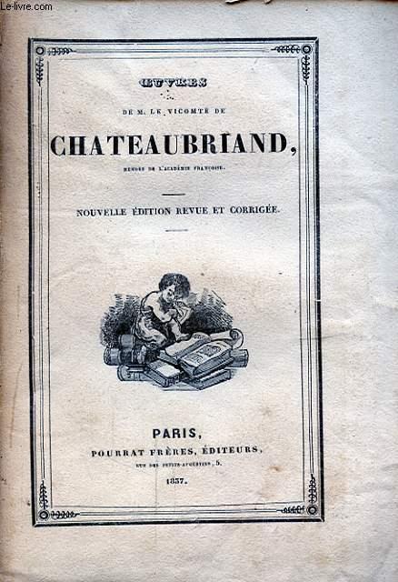 OEUVRES DE M. LE VICOMTE DE CHATEAUBRIAND TOME XVIII MEMOIRES