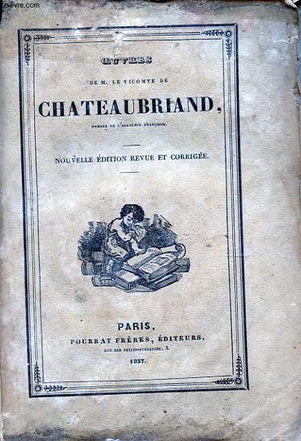 OEUVRES DE M. LE VICOMTE DE CHATEAUBRIAND TOME XV ETUDES HISTORIQUES