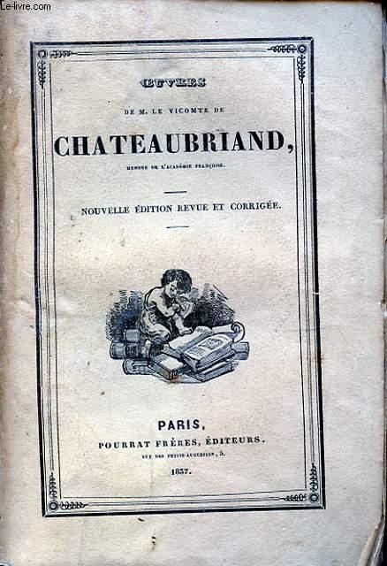 OEUVRES DE M. LE VICOMTE DE CHATEAUBRIAND TOME VI LES MARTYRS I