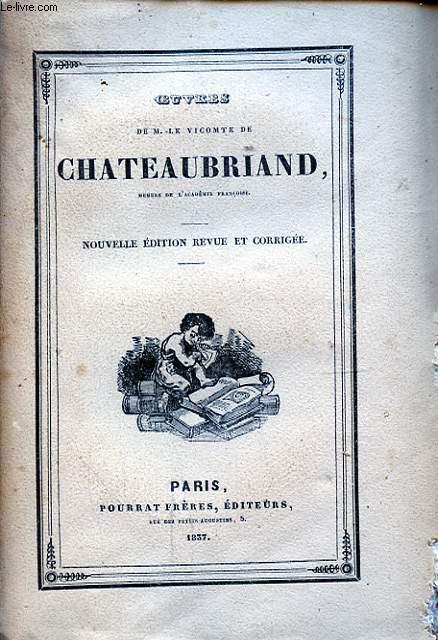 OEUVRES DE M. LE VICOMTE DE CHATEAUBRIAND TOME IV GENIE DU CHRISTIANISME IV