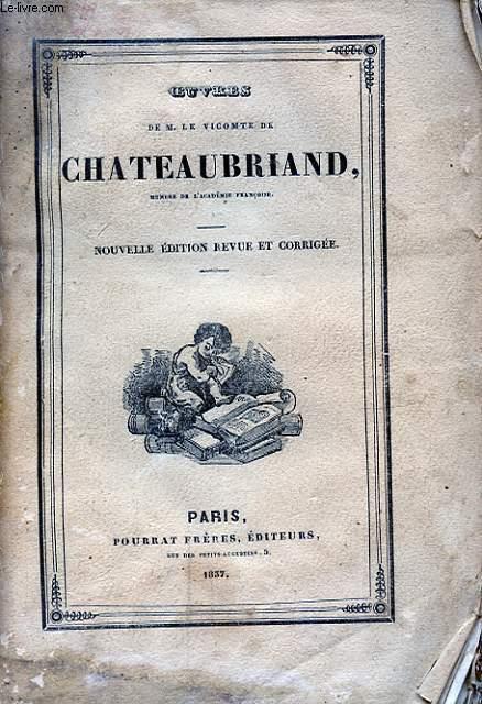 OEUVRES DE M. LE VICOMTE DE CHATEAUBRIAND TOME V ATALA