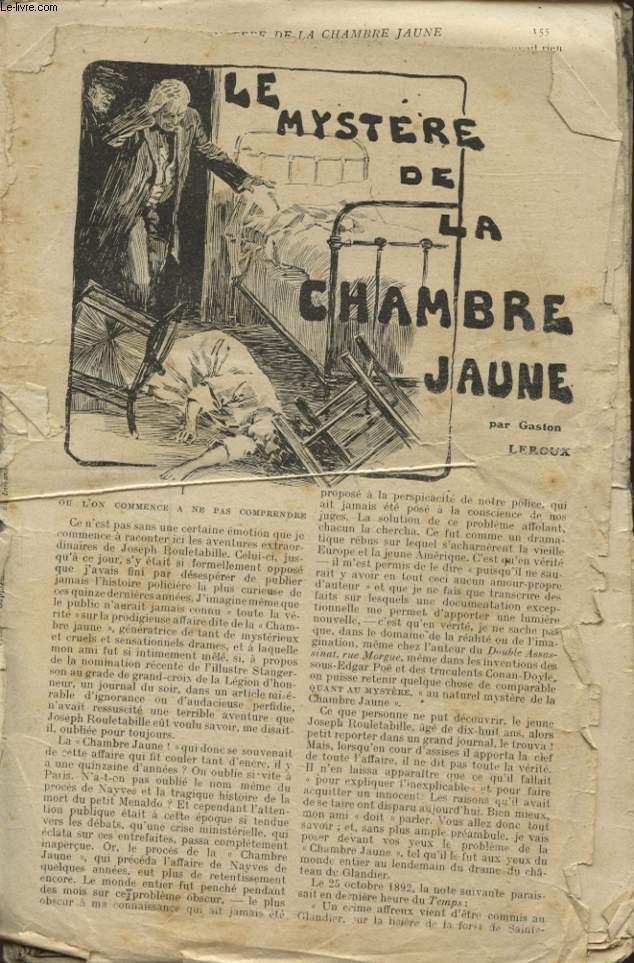 LE MYSTERE DE LA CHAMBRE JAUNE