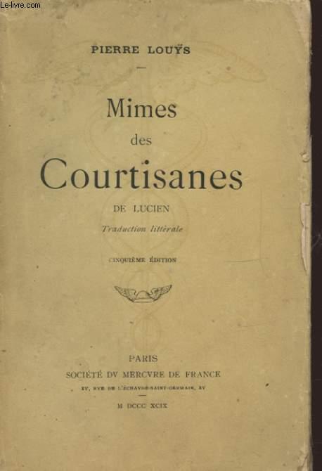 MIMES DES COURTISANES DE LUCIEN