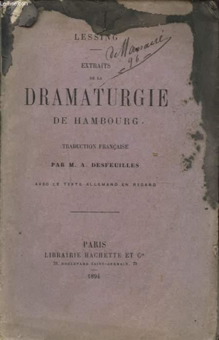 EXTRAIT DE LA DRAMATURGIE DE HAMBOURG