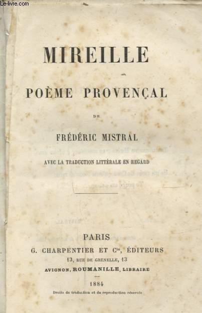 MIREILLE POEME PROVENCAL