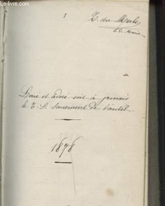 RETRAITE 1878 PRECHE PAR LE R. P. GUIDE DE LA COMPAGNIE DE JESUS