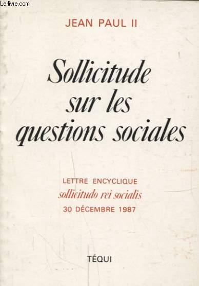 SOLLICITUDE SUR LES QUESTIONS SOCIALES