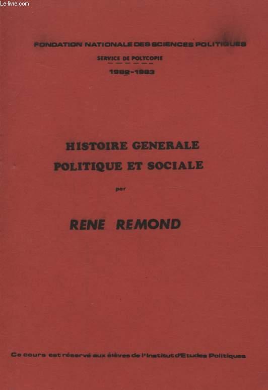 HISTOIRE GENERALE POLITIQUE ET SOCIALE