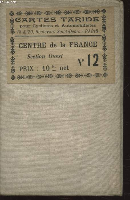 CENTRE DE LA FRANCE SECTION OUEST N°12