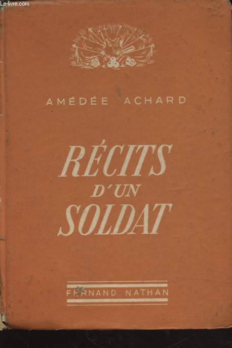 RECITS D UN SOLDAT