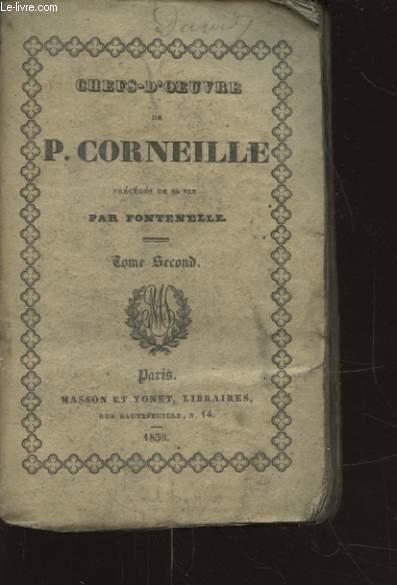 CHEFS D OEUVRE DE T. CORNEILLE TOME SECOND