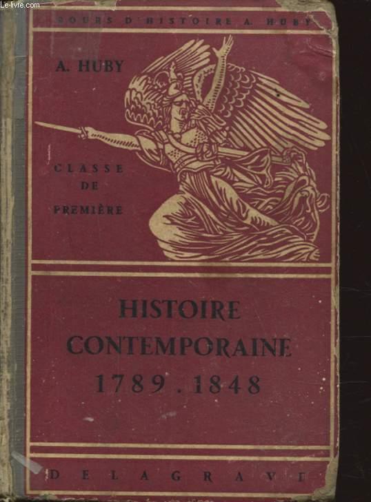 HISTOIRE CONTEMPORAINE 1789 1848 CLASSE DE PREMIERE