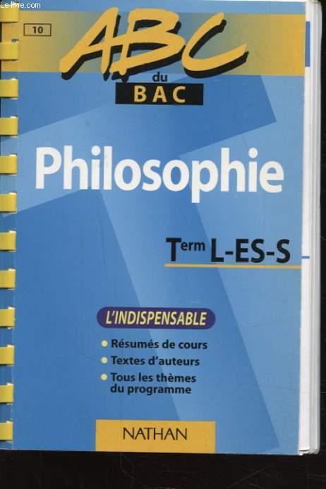 ABC DU BAC PHILOSOPHIE T L-ES-S